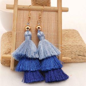 3 tier fish hook style earrings